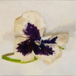 "Pansy, oil on panel, 3"" x 5"", 2009"